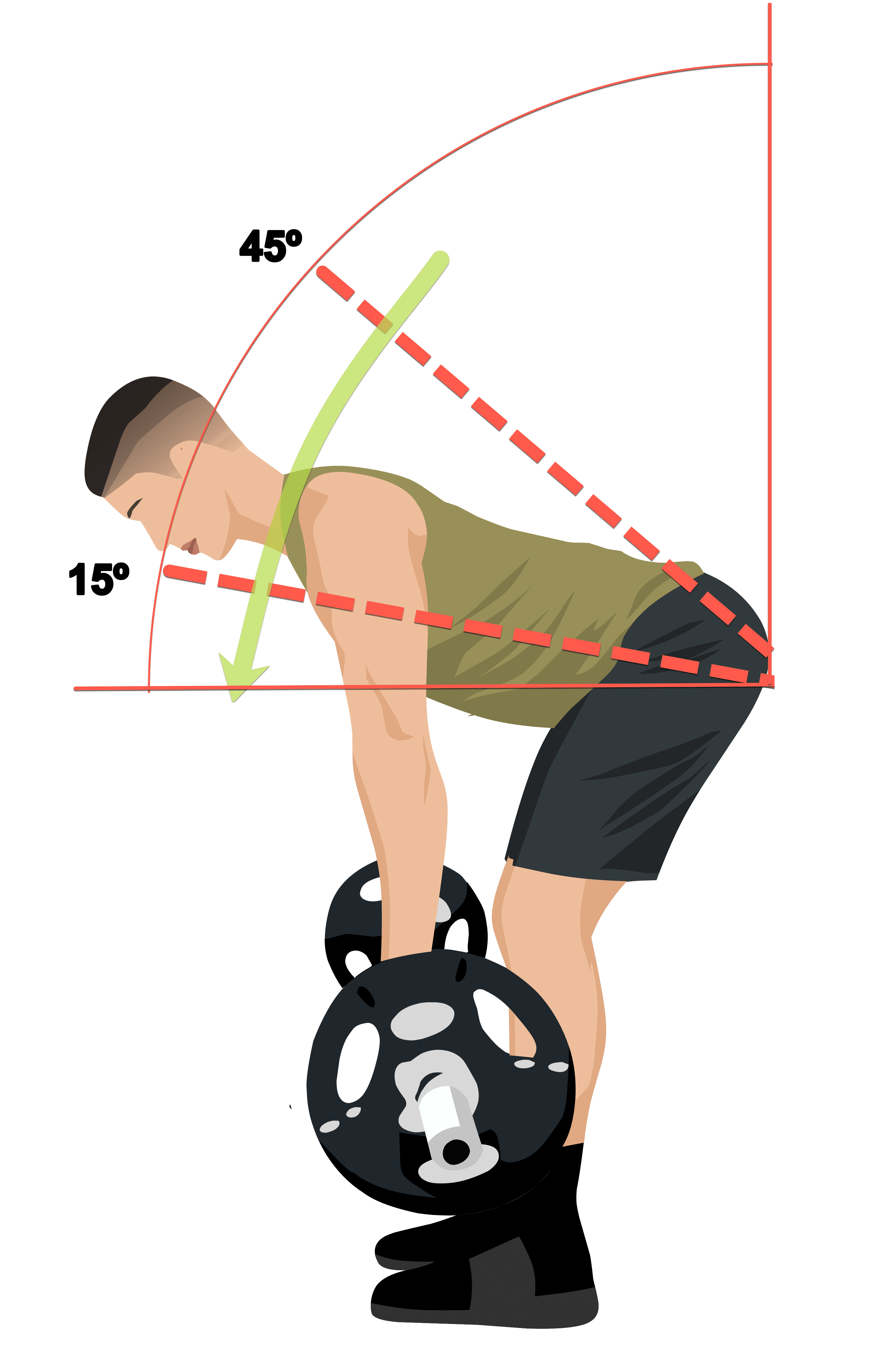 barbell row starting position 2