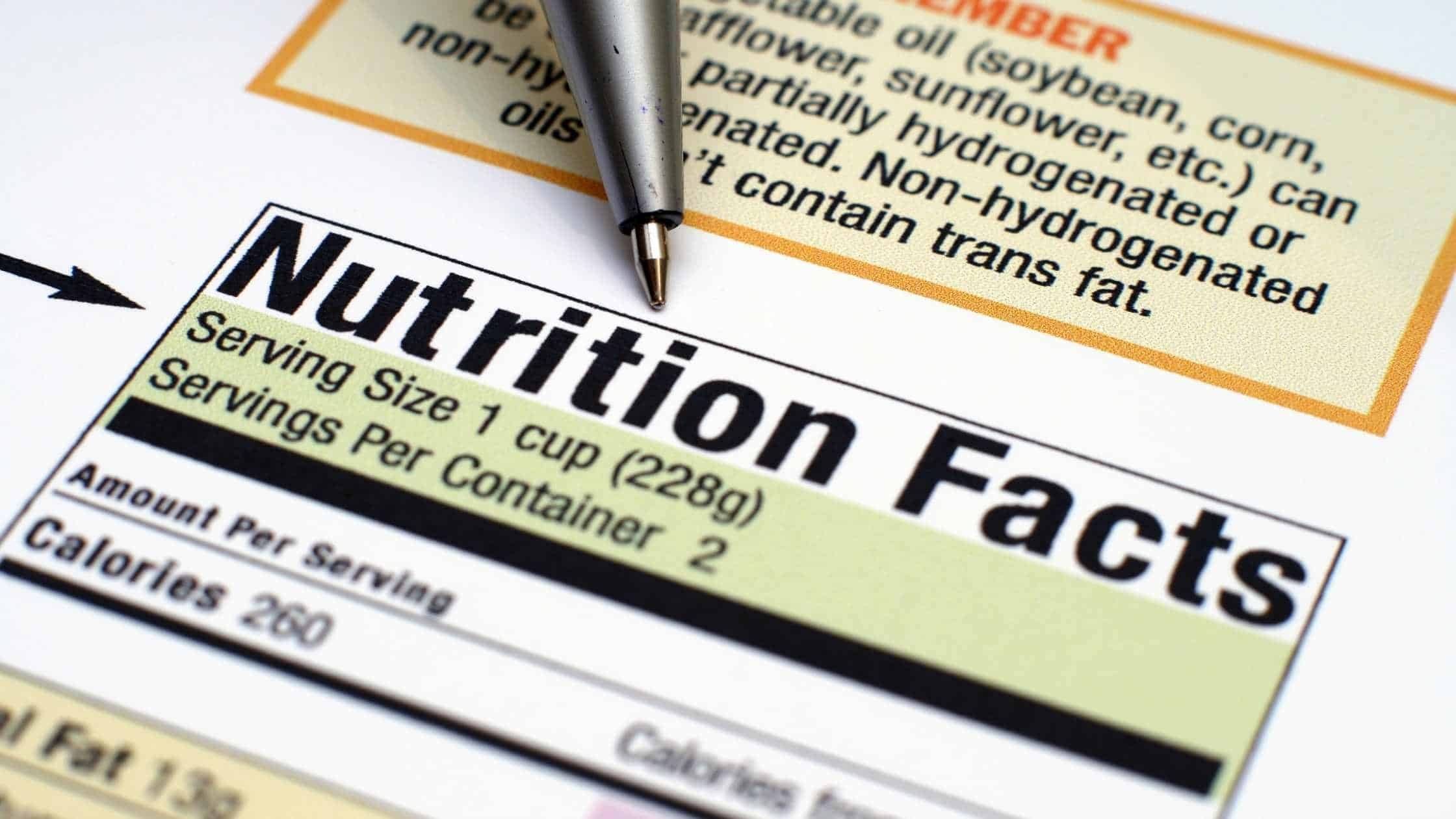 nutrition numbers